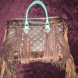 Handbags - Leather fringe handbag